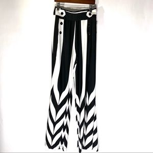 Robert Louis Black & White Striped Sailor Pant